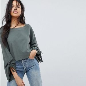 Free People Holala Statement Cropped Sweater
